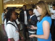 EOTRCEC Student talking to WTOP Reporter.